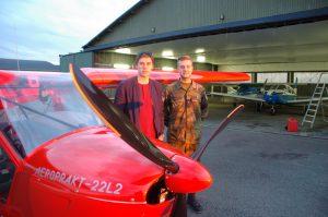 Hagstadius og Eriksen med Aeroprakten